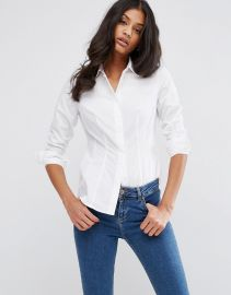 ASOS  ASOS Fuller Bust Fitted Shirt at Asos