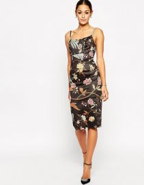 ASOS  ASOS Hitchcock Midi Pencil Dress In Bird Print at Asos