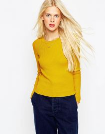 ASOS  ASOS Jumper In Rib With Crew Neck at Asos