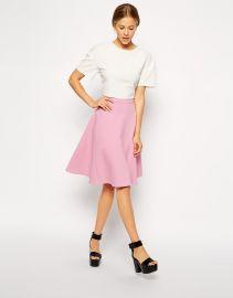 ASOS  ASOS Midi Skirt With Seam Detail  in Scuba at Asos