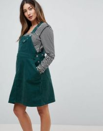 ASOS DESIGN Maternity cord overall dress in emerald green at asos com at Asos