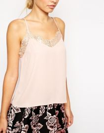 ASOS Lace Trim Cami Top at Asos