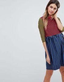ASOS MATERNITY Cut About Stripe Mini Smock Dress at asos com at Asos