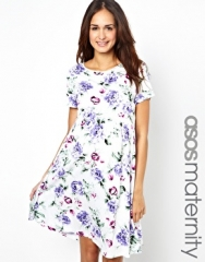 ASOS Maternity  ASOS Maternity Exclusive Skater Dress in Floral Print at Asos