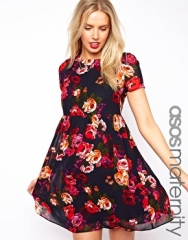 ASOS Maternity  ASOS Maternity Smock Dress in Floral With Back Detail at Asos