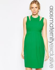 ASOS Maternity  ASOS Maternity Tulip Dress With Cut Out Neck at Asos