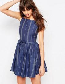 ASOS Mini Stripe Skater Sundress at asos com at Asos