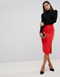 ASOS Mix   Match High Waisted Pencil Skirt With Split at asos com at Asos
