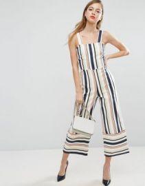 ASOS Pinny Jumpsuit in Stripe at asos com at Asos