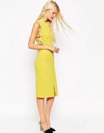 ASOS Tab Side Pencil Dress at asos com at Asos