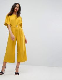 ASOS Tea Jumpsuit with Elasticated Belt at Asos