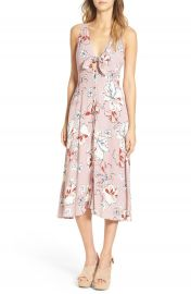 ASTR  Amaia  Floral Print Midi Dress at Nordstrom
