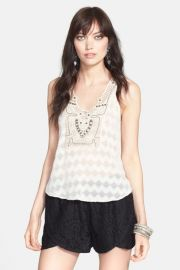 ASTR Embellished Crochet Tank at Nordstrom Rack
