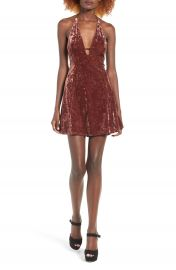 ASTR Faye Velvet Dress at Nordstrom