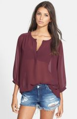 ASTR HighLow Blouse at Nordstrom