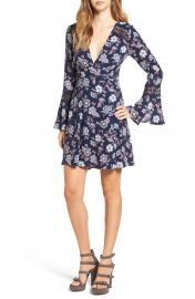 ASTR Lace Inset Fit   Flare Dress at Nordstrom