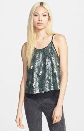 ASTR Peacock Sequin Tank at Nordstrom
