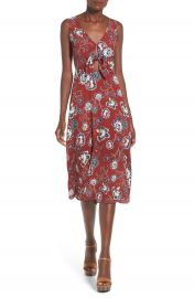 ASTR Tie Front Midi Dress at Nordstrom