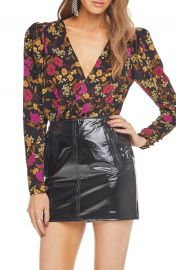 ASTR the Label Blondie Surplice Bodysuit   Nordstrom at Nordstrom