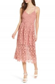 ASTR the Label Lace Midi Dress at Nordstrom
