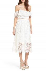 ASTR the Label Lace Off the Shoulder Midi Dress at Nordstrom
