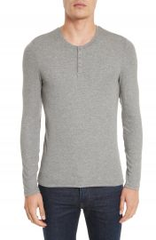 ATM Anthony Thomas Melillo Long Sleeve Rib Henley at Nordstrom