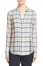 ATM Anthony Thomas Melillo Plaid Silk Shirt at Nordstrom