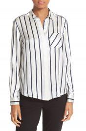 ATM Anthony Thomas Melillo Stripe Silk Shirt at Nordstrom