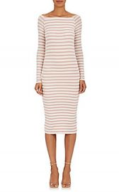 ATM Anthony Thomas Melillo Striped Rib-Knit Off-The-Shoulder Dress at Barneys