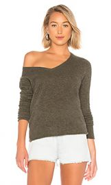 ATM Anthony Thomas Melillo V Neck Sweater in Heather Army from Revolve com at Revolve