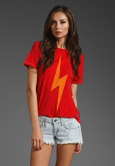 AVIATOR NATION Bolt Tee in Red - Aviator at Revolve