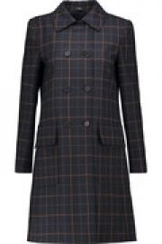 Abla checked twill coat at The Outnet