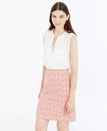 Abstract diamond pencil skirt at Ann Taylor