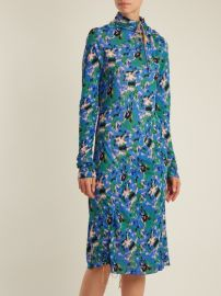 Abstract-print crepe-jersey midi dress by Marni at Matches