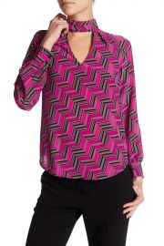 Abundant Mock Neck Silk Blouse by Trina Turk at Nordstrom Rack