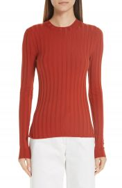 Acne Studios Ribbed Wool Blend Sweater at Nordstrom
