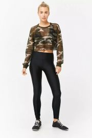 Active Mesh Camo Top Forever 21 at Forever 21