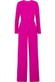 Adam Lippes   Chiffon-paneled silk-crepe jumpsuit at Net A Porter