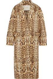 Adam Lippes   Leopard-print wool-gabardine coat at Net A Porter