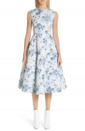 Adam Lippes Floral Jacquard Fluted Dress at Nordstrom