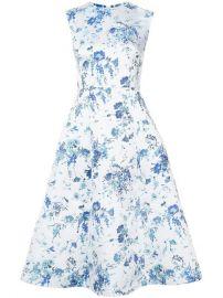 Adam Lippes Floral-print Fluted Midi Dress at Farfetch