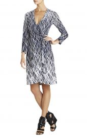 Adele Dress in Dark Navy Combo at Bcbg