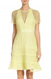 Adelyn Rae Illusion Fit   Flare Dress at Nordstrom