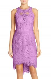 Adelyn Rae Lace High Low Sheath Dress at Nordstrom