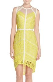 Adelyn Rae Lace HighLow Sheath Dress at Nordstrom