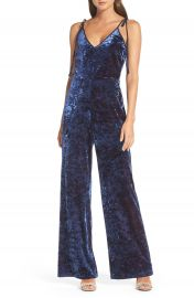 Adelyn Rae Regina Crushed Velvet Jumpsuit at Nordstrom