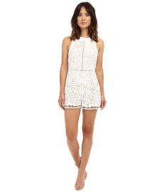 Adelyn Rae Sleeveless Lace Romper White at 6pm