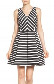 Adelyn Rae Stripe Fit   Flare Dress at Nordstrom