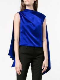 Adena Sleeveless Scarf Top by OSMAN at Farfetch