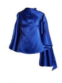 Adena satin draped-scarf top at Matches